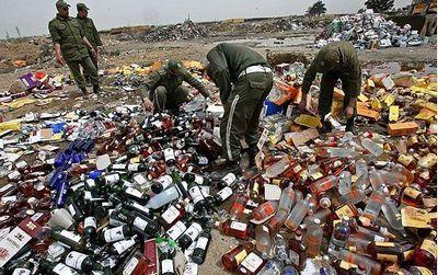 Как уничтожают алкоголь арабы. Жесть! (фотоподборка 20 фото, 1,2 Мб)
