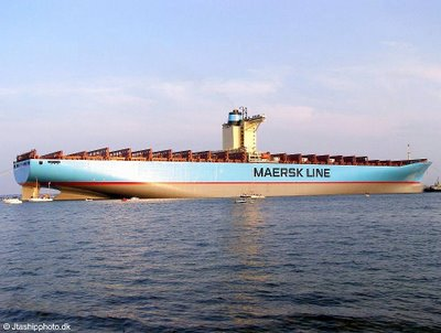 Самый большой в мире сухогруз EMMA MAERSK. 6 фото