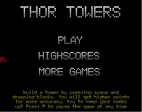 Игра на ловкость и меткость - стоим башню :)
