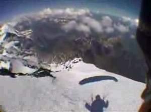 Красивый спуск с горы