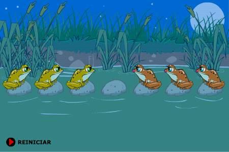 Логическая игра: переставляем лягушек