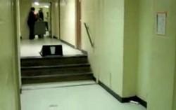 Чудаки: коридорное ралли в тележке