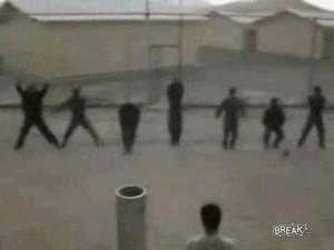 Иракские солдаты на зарядке