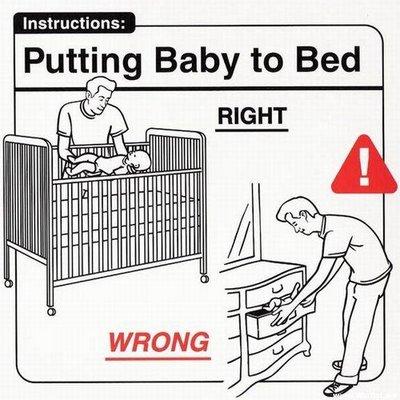 Инструкции по уходу за ребёнком, 28 картинок.