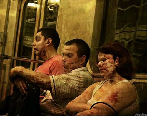 Московское метро глазами сумасшедшего. 9 картинок