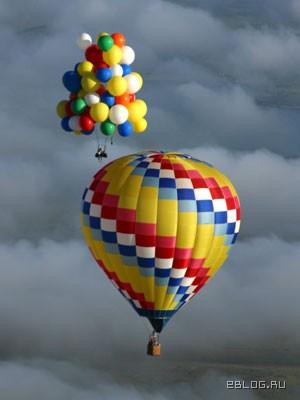 Перелёт на воздушных шариках. 26 фото.