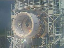 Испытание авиационной турбины O_O
