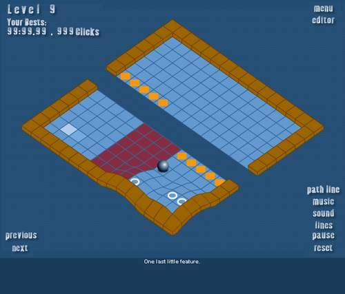 Игра: головоломка с изменением рельефа и катанием шарика