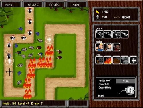 Игра: оборона деревни