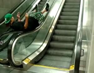 Вращение на эскалаторе