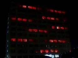 Световые спецэффекты в многоэтажке